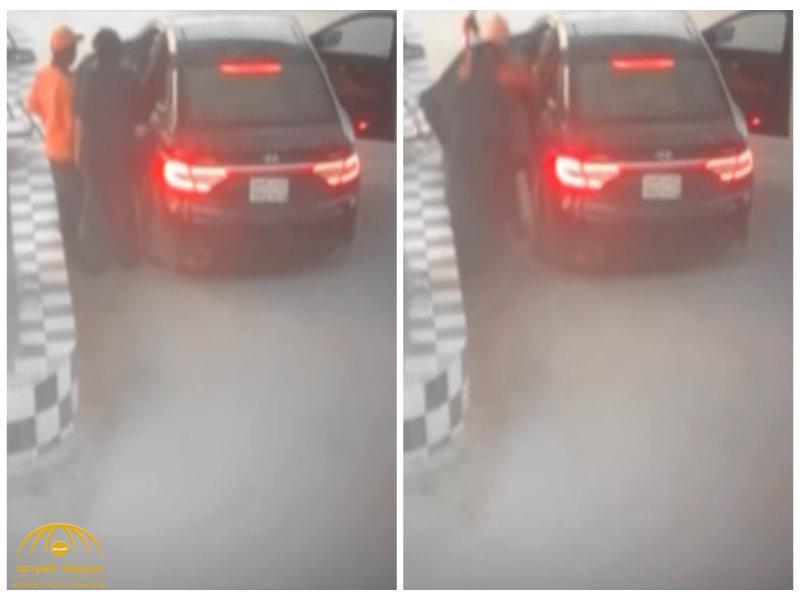 شاهد: اختطاف عامل  وسلب أمواله من داخل محطة وقود بالرياض..وكاميرا مراقبة تفضحهم!