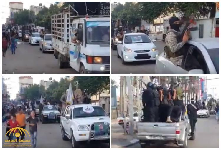 بعد يوم من ترحيب حماس .. شاهد تنظيم شيعي ينظم عرضاً عسكرياً في غزة