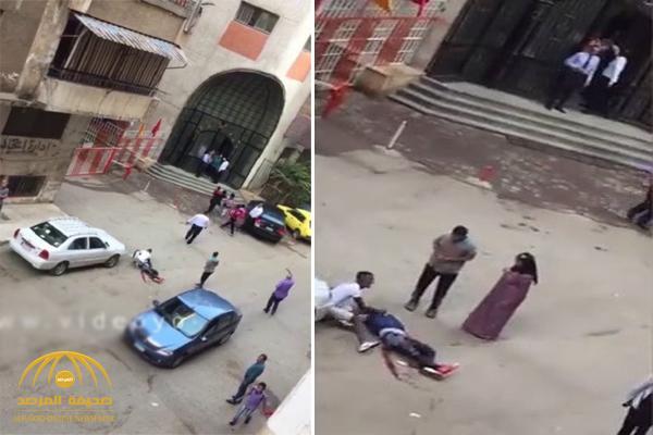 شاهد.. فيديو صادم لمقتل شاب حاول التحرش بفتاة وخطفها في مصر