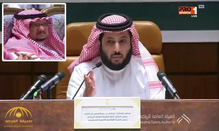 شاهد ردة فعل فيصل بن تركي بعد توضيح رئيس هيئة الرياضة حول استمراره في رئاسة النصر