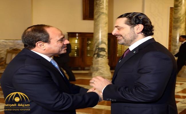 بعد عقد مباحثات مع السيسي.. الحريري يغادر القاهرة إلى بيروت.. صور