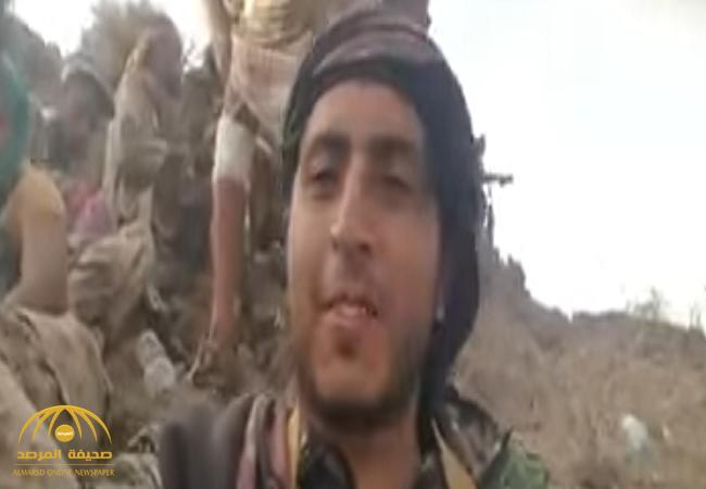 شاهد .. طائرة «تصطاد» متمردون حوثيون  لحظة التقاطهم  سيلفي فوق جبل