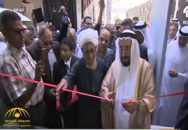 بالفيديو: لهذا السبب حاكم الشارقة استضاف محصل عقار مصري في قصره .. واستقبله كالأمراء