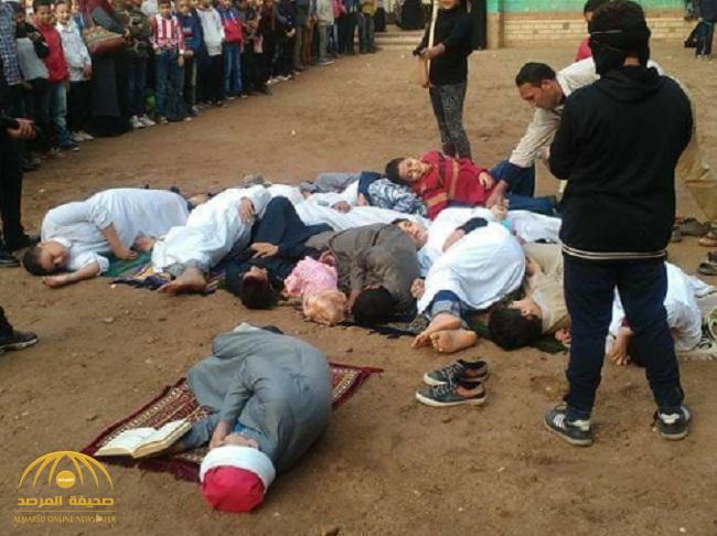 """بالصور .. مدرسة مصرية حاولت تمثيل """"مجزرة المسجد"""" .. فكانت المفاجأة !"""