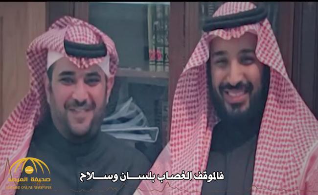 """فالموقف الغصاب بلسان وسلاح .. شاهد قصيدة تشيد بتصدي """"سعود القحطاني"""" للعدو"""