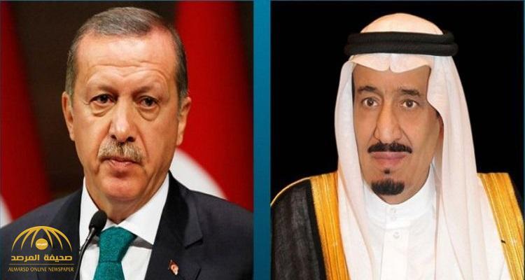 خادم الحرمين يتلقى اتصالاً هاتفيًّا من الرئيس التركي