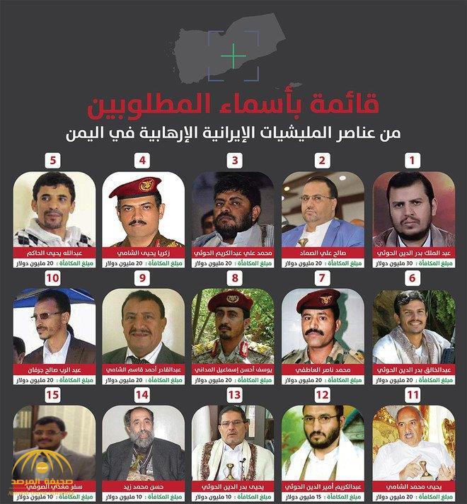بالصور .. المملكة تعلن أرقام التواصل للإبلاغ عن قائمة الأربعين حوثياً