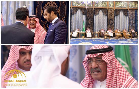 بالصور : الأمير مقرن بن عبدالعزيز يستقبل المعزين بوفاة نجله منصور في اليوم الثاني