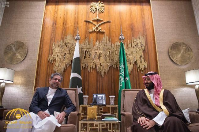 ولي العهد يلتقي رئيس وزراء جمهورية باكستان الإسلامية