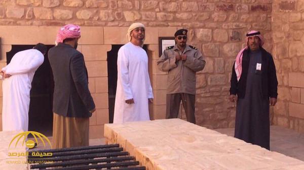 بالفيديو والصور .. شاهد محمد بن زايد في مدائن صالح بالسعودية