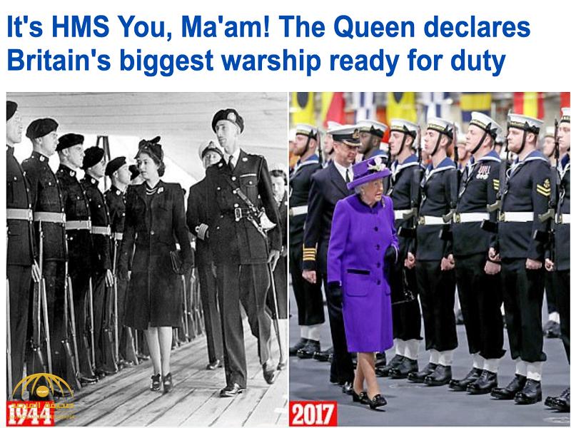 بالصور: الملكة إليزابيث تشارك في إطلاق أكبر حاملة طائرات تنضم إلى البحرية البريطانية
