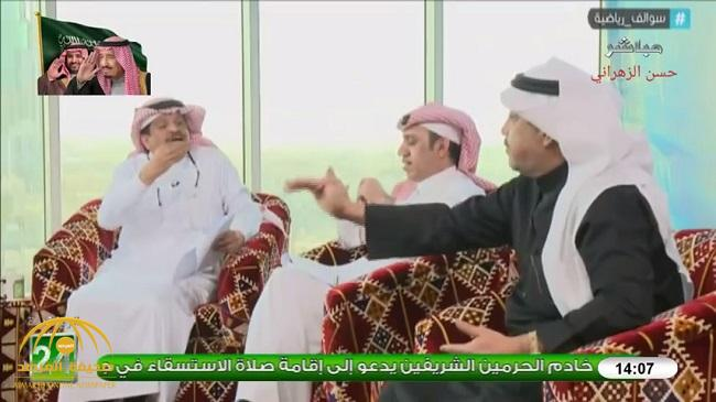 """بالفيديو :  بسبب """"سامي الجابر"""" مشادة كلامية وتراشق بالألفاظ بين """"الطخيم"""" و""""جستنيه"""""""