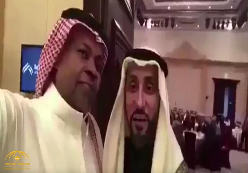 """بالفيديو: سعيد العويران يعتذر لـ """"سامي الجابر"""" لهذا السبب.. شاهد: ردة فعل الأخير!"""