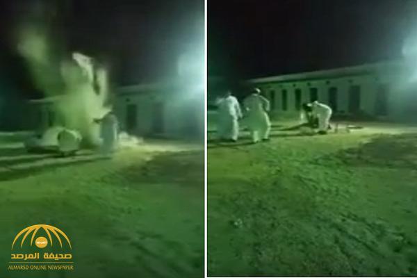 كأنها قنبلة.. شاهد لحظة انفجار ذبيحة في وجه شاب سعودي!
