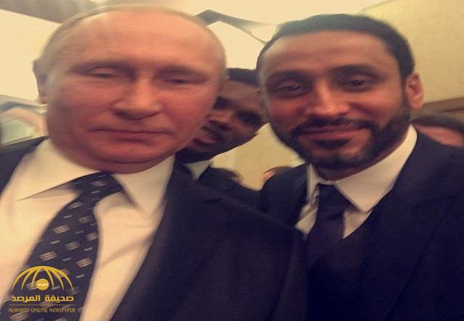 شاهد.. الجابر يلتقط سيلفي مع بوتين  ويلتقي بمشاهير كرة القدم على هامش قرعة كأس العالم