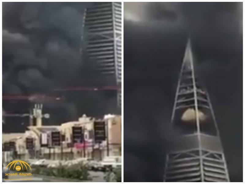 بالفيديو: برج الفيصلية يختفي وسط دخان كثيف.. والدفاع المدني يكشف ملابسات الحريق