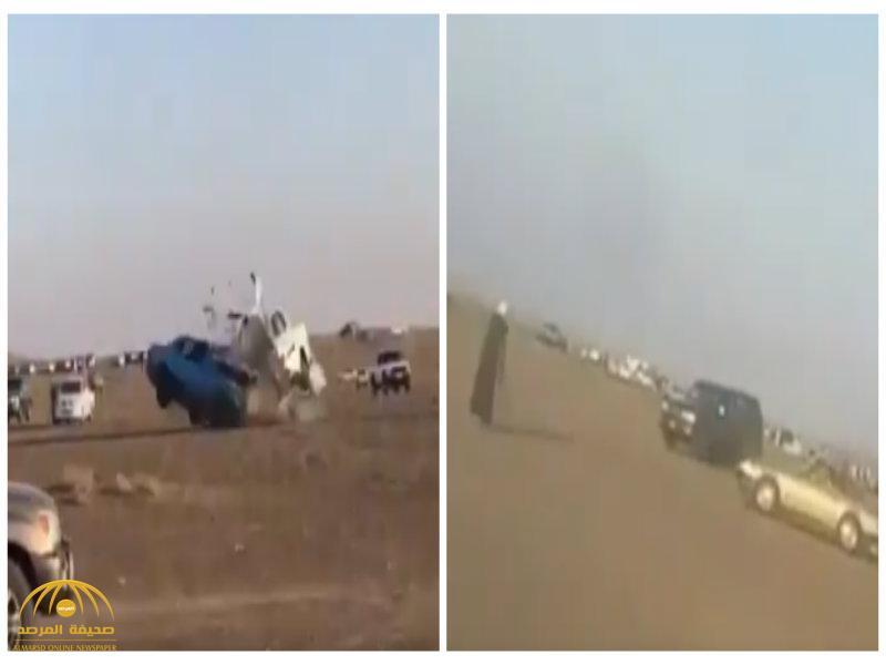 """شاهد .. حادث تصادم """"وجها لوجه"""" بين مركبتين في عمان بسبب التفحيط"""