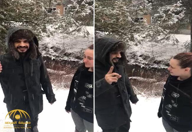 """بالفيديو : لحظة اعتناق فتاة كندية الإسلام على يد المبتعث """"محمد العتيبي"""" .. والأخير يكشف السبب الذي دفعها لذلك"""