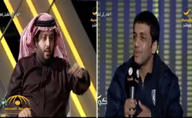 """فيديو  ..  """" آل الشيخ """"  يتفاعل مع  اقتراح  قدمه  """"الشلهوب""""  ويعد بتطبيقه في الجولة القادمة"""
