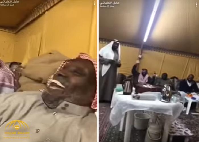 """بالفيديو: الكلباني يطقطق على أقاربه في مخيم.. """"مافيكم واحد """"فاتح"""" كنكم نادي الاتحاد""""!"""