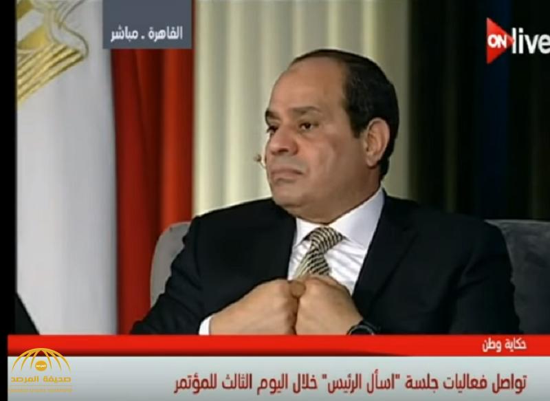 شاهد بالفيديو.. السيسي منفعلًا: اللي يقرب من الكرسي يحذر مني!