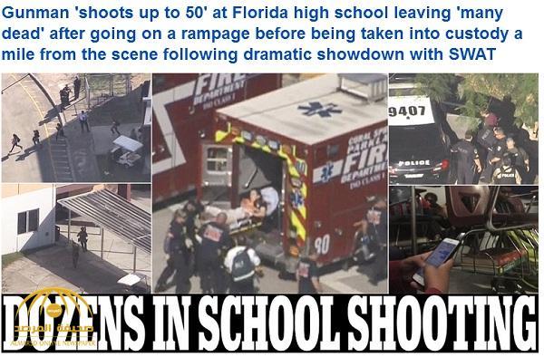 بالفيديو والصور : قتلى وجرحى بإطلاق نار في مدرسة بولاية فلوريدا الأمريكية