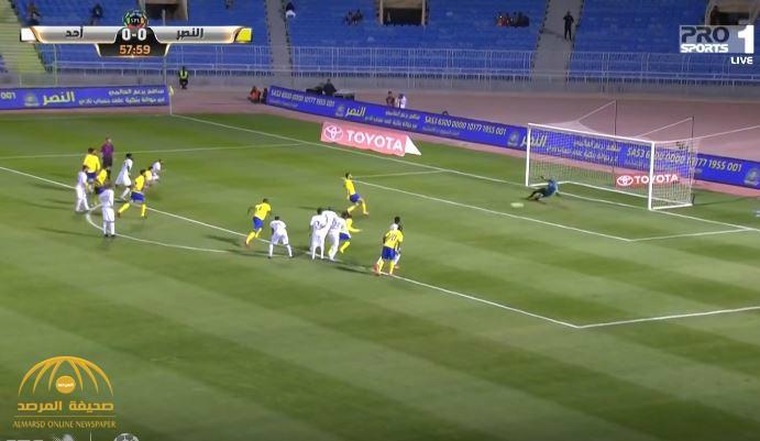 """بالفيديو : النصر  يتجاوز  """"أحد""""  بهدفين  عن طريق ركلتي جزاء!"""
