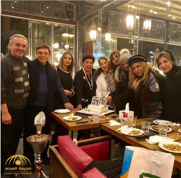 """بالصور والفيديو : الفنانة """"سهير رمزي""""  تخلع الحجاب وتقترب من السبعين في حفل عيد ميلادها"""