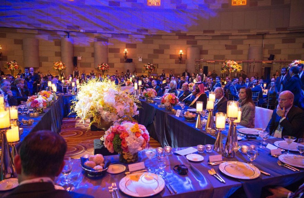 ولي العهد يشرف حفل عشاء  منتدى الأعمال السعودي الأمريكي-صور