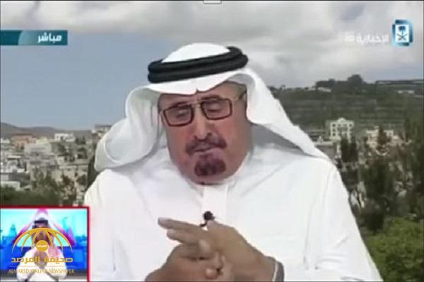 شاهد بالفيديو.. مسؤول سعودي يبكي على الهواء!
