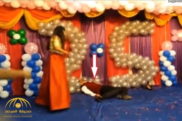 فيديو : حادث مأساوي .. وفاة عريس بينما كان يرقص مع عروسه أمام المعازيم !