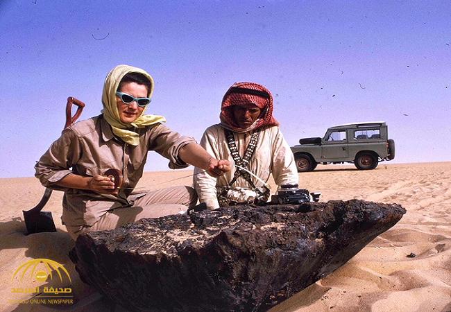 لحظة سقوطه يعادل انفجار قنبلة نووية .. شاهد بالصور:  العثور على نيزك ضخم في صحراء المملكة قبل 52 عاماً