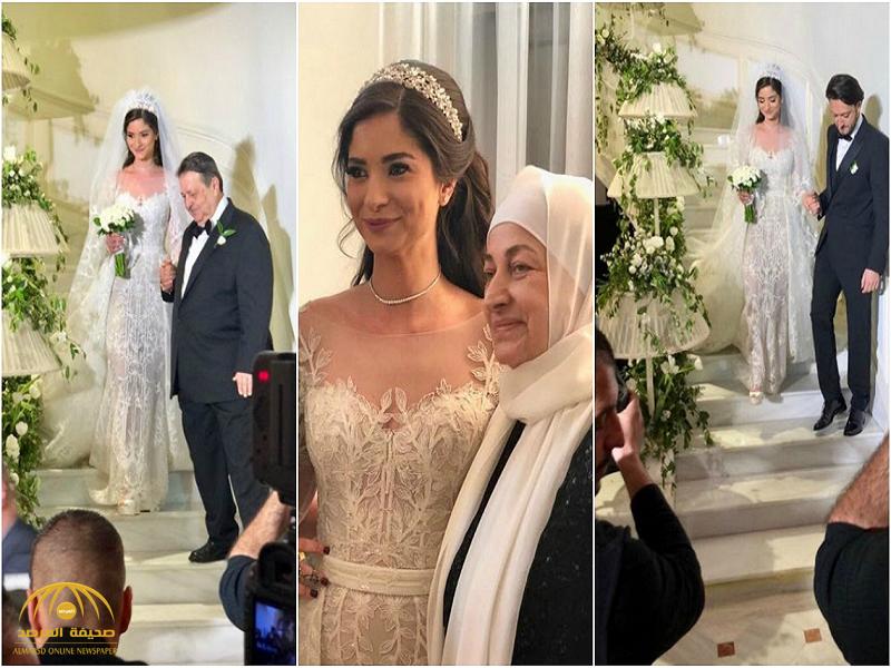 بالصور والفيديو : شاهد.. حفل زفاف علا الحريري بحضور رئيس الحكومة اللبنانية