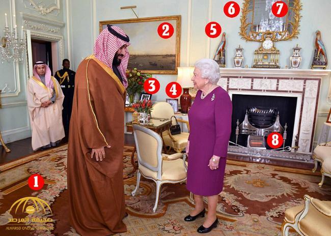 """بالصور: تعرف على أنواع وأسعار التحف الموجودة في غرفة """"الملكة إليزابيث"""" أثناء استقبال ولي العهد"""