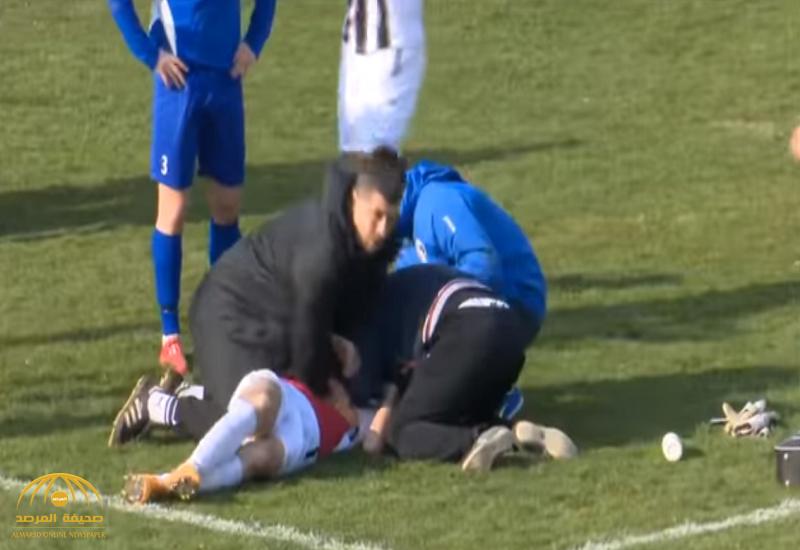 شاهد.. لحظة وفاة لاعب كرواتي أثناء مباراة لكرة القدم.. وهكذا حاول المسعفون إنقاذه