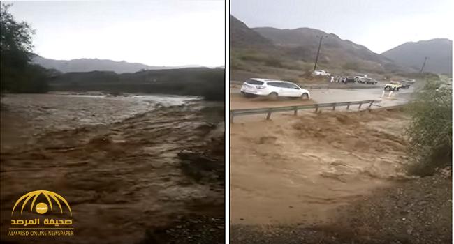 شاهد.. السيول والأمطار تغرق بعض القرى وتحاصر السكان في عسير