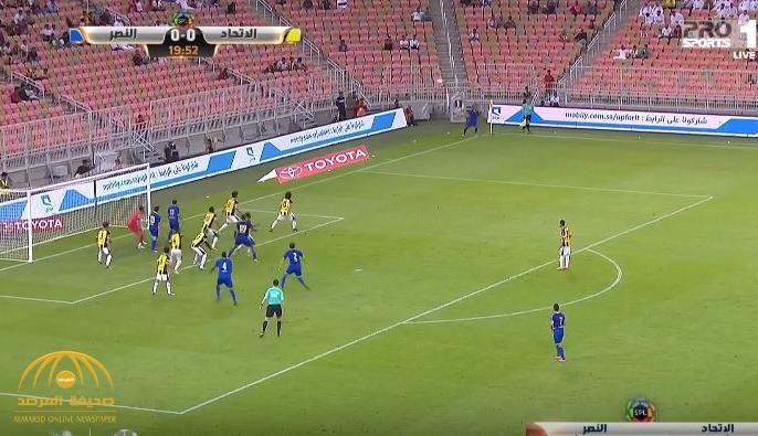 بالفيديو : النصر يسحق الاتحاد بثلاثة أهداف