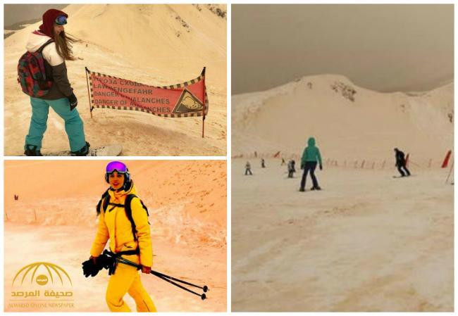 سر الثلوج البرتقالية التي ضربت بعض البلدان الأوروبية! – صور