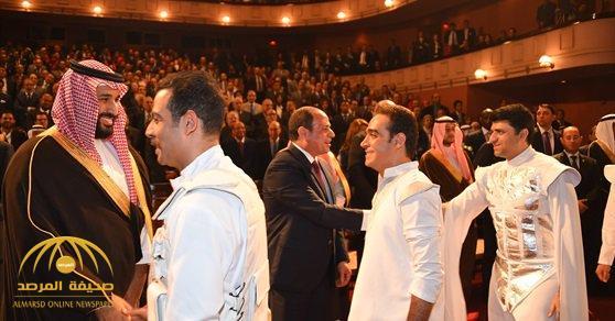 بالصور: ولي العهد والسيسي  يحضران عرض مسرحية «سلم نفسك» بدار الأوبرا المصرية