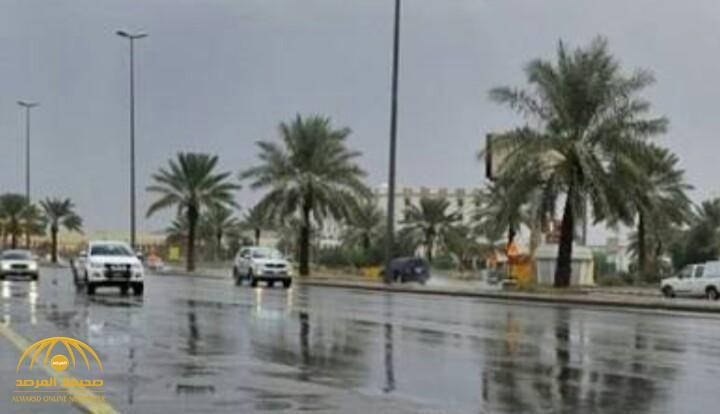 هطول أمطار رعدية مصحوبة برياح نشطة على هذه المناطق!