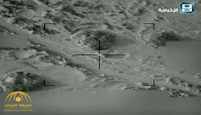 شاهد.. لحظة استهداف مقاتلات التحالف لتجمعات وعربات الحوثيين!