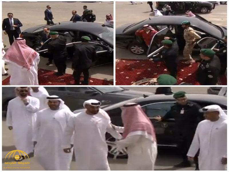 بالفيديو: رؤساء وقادة الدول العربية يصلون لمقر تمرين درع الخليج المشترك 1