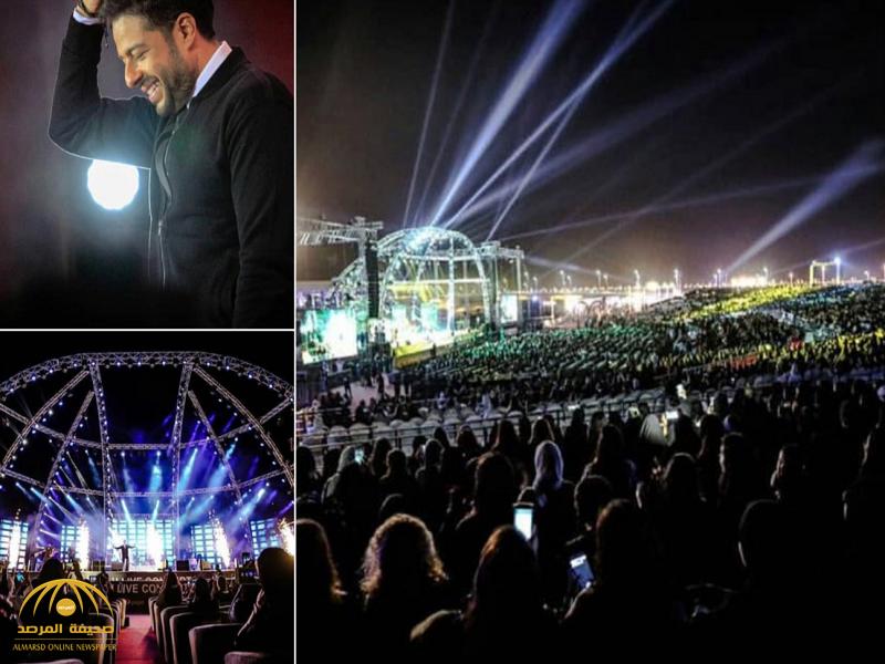 شاهد بالفيديو والصور: محمد حماقي يشعل حفله الأول في السعودية.. وهكذا تفاعل معه الجمهور من الشباب والفتيات!