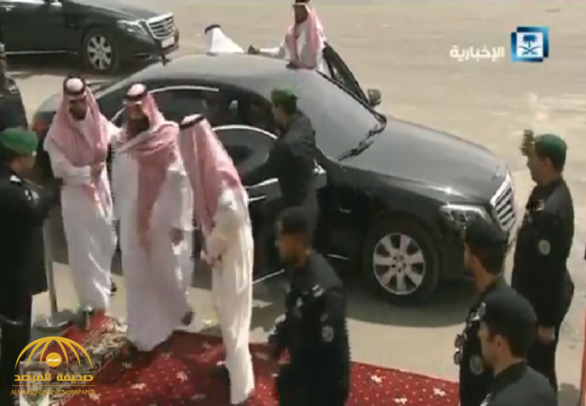 بالفيديو:ولي العهد يصل لمقر تمرين درع الخليج المشترك1