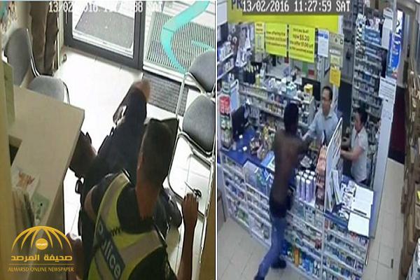 فيديو: سوداني يكسر محل صيدلية في أستراليا .. شاهد كيف تعامل معه ضابط شرطة بعد القبض عليه!