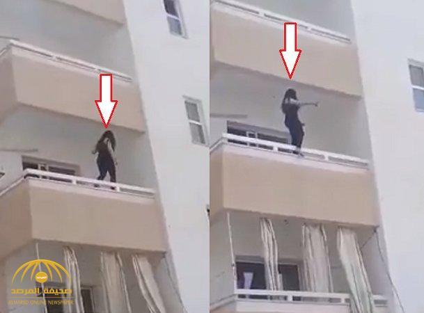 شاهد.. محاولة انتحار فتاة من الطابق الثالث في الأردن