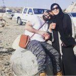 شاهد.. الفنانة سمية الخشاب وزوجها  في الطائف !
