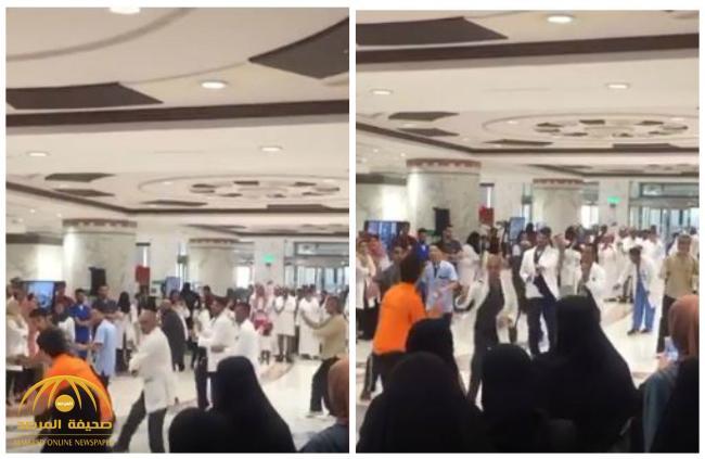 «رقصة من فيلم هندي».. شاهد: وصلة رقص داخل مستشفى الملك فيصل بالرياض.. وجدل على «تويتر»