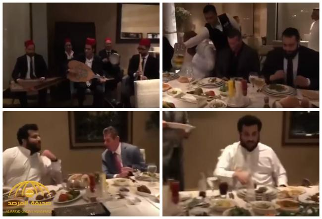 بالفيديو : على أنغام الموسيقى .. نجوم المصارعة يتناولون العشاء على مأدبة «آل الشيخ» .. وظهور مختلف لـ«مارك هنري»