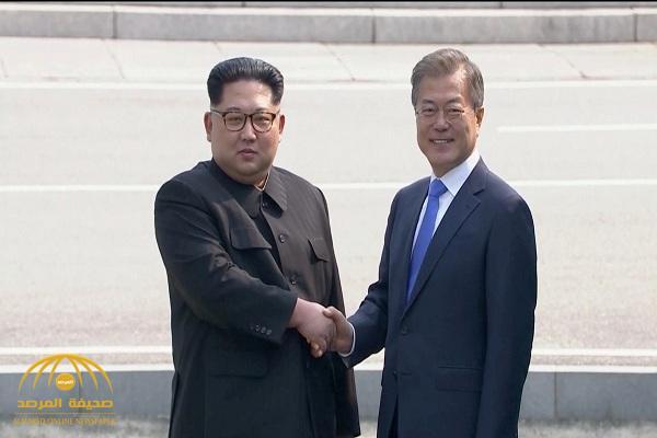 بالفيديو والصور.. لقاء تاريخي بين الرئيس الكوري الجنوبي والزعيم الكوري الشمالي